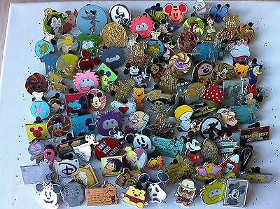 Disney Trading Pins-Lot of 75-No Duplicates-LE-HM-Rack-Cast-Free Shipping