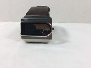Fossil Watch Digital and Analog with leather strap