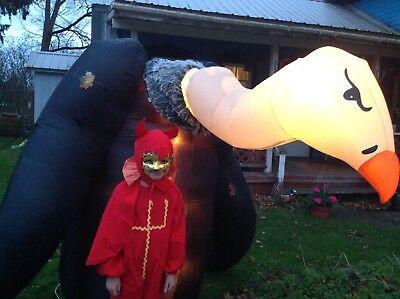 Childrens Devil Halloween Costume ( VTG 60's 70's Kids Halloween Costume Handmade  med 8-10 USA Lil Devil Evil)