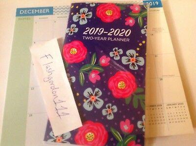1 2019-2020 Retro Floral 2 Two Year Planner 2019-20 Pocket Calendar Organizer