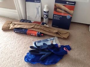Brand new medical compression stockings for after knee surgery