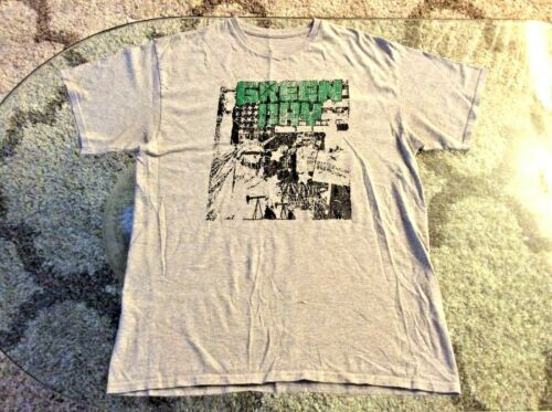 Green Day 21st Century Breakdown Statue of Liberty Gray Shirt Adult Large