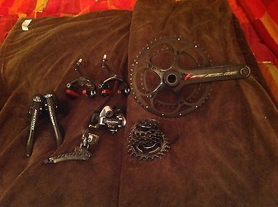 Campagnolo 10 Speed Record Group w/ Fulcrum Carbon Cranks