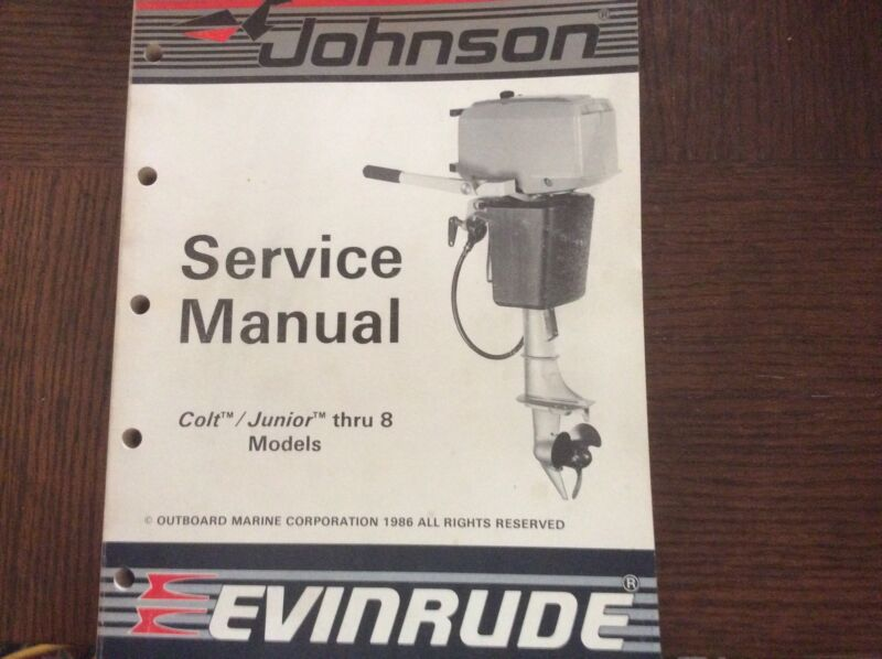 1987 Johnson Evinrude Manual 2 to 8hp, 35 to 55hp, 120 to