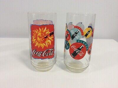 Lot of 2 Coca Cola Coke Glasses - Excellent/Like New Condition