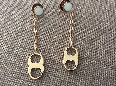 Tory Burch Gemini link gold tone dangle Pierced earring