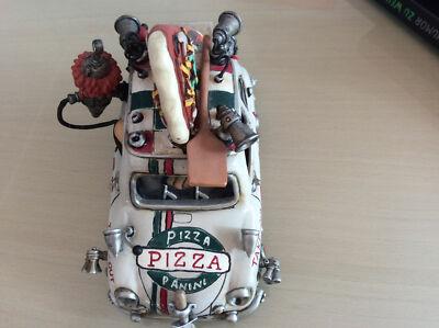 Pizza Fiat 500 vorne Oben