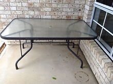 Out Door table glass top Bligh Park Hawkesbury Area Preview