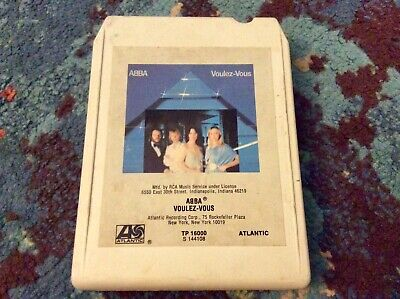 ABBA Voulez-Vous 8 Track Tape SWEDISH POP 1979 TP 16000 White Tape VERY GOOD