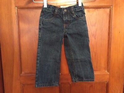 Nautica Boys SZ 2T Denim Jeans Pants Adjustable Waist Barely Worn