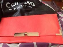 Colette hayman coral coloured clutch bag Arncliffe Rockdale Area Preview