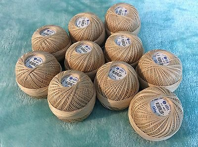 Crochet Cotton 10 x 50g Anchor Aida No 15 Beige craft wool yarn Coats