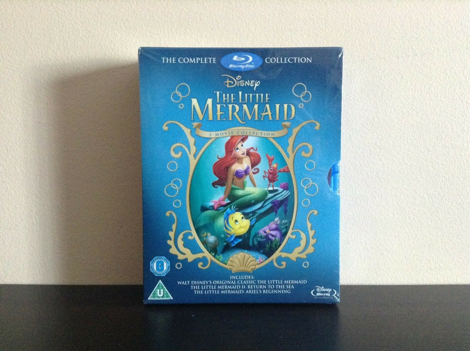 Little Mermaid Trilogy Gift Set (Blu-ray Disc, 2013, 3-Disc Set) *NEW*