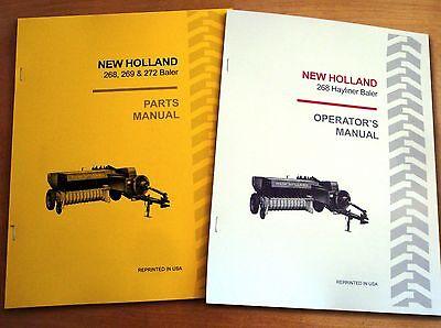 New Holland 268 Hayliner Baler Operators And Parts Manual Catalog Book Nh