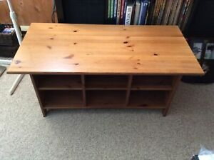 IKEA solid pine coffee table