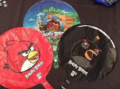 Angry Birds Party Supplies Mylar Balloon lot of 3-bulk - Angry Bird Party Supplies