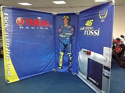 Valentino Rossi / Yamaha Motorcycle/ Racing backdrop RARE
