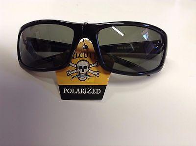 New Authentic Calcutta Prowler Sunglasses - Shiny Black Frame/Black (Mens Calcutta Sunglasses)