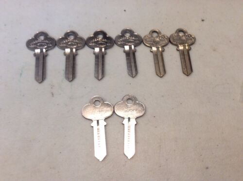 co-1 key blanks by ilco & independent lock co; set of 8, locksmith