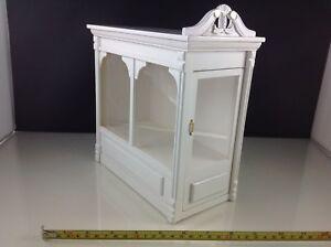 Dollhouse Miniature Store Shop Big White Acrylic Wood Display Showroom Case 1:12