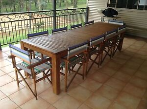 Outdoor 2.8 meter table with 10 chairs Cabarlah Toowoomba Surrounds Preview