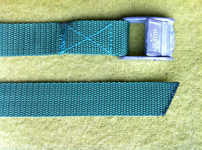 Green 3mtr - 25mm Cam Buckle Strap -Tie Down - Luggage Lashing Roof Rack Boating