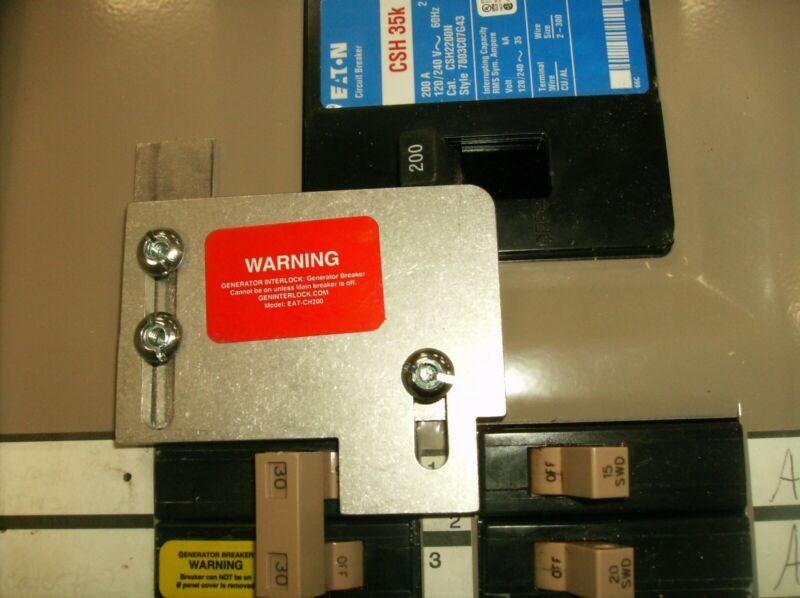 EAT-CH200A Cutler Hammer Generator interlock kit CH SERIES ONLY 200 Amp PRE 2019
