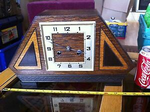 beaux art deco de mantel grosse horloge avec pendule en bois collection ebay. Black Bedroom Furniture Sets. Home Design Ideas
