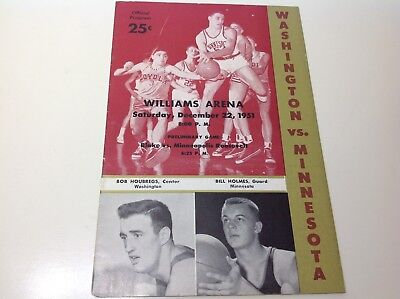 WASHINGTON vs MINNESOTA Basketball 12- 22-1951 Williams Arena