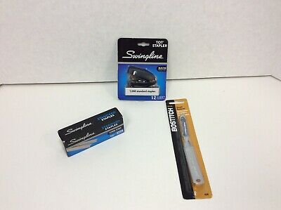 Swingline Mini Stapler Black 12 Sheet 6000 Staples Staple Remover