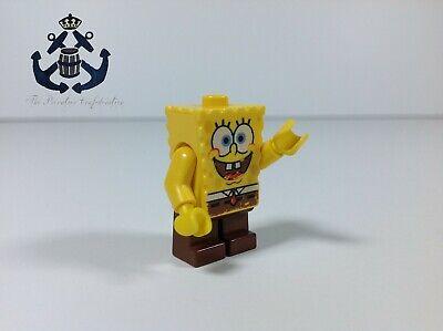 "Lego Spongebob Squarepants Minifigure SpongeBob ""I'm Ready"" bob001 - Krusty Krab"