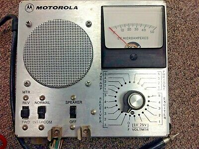 Vintage Motorola Micor Station Metering Kit Tln1857a With Cables Test Probes
