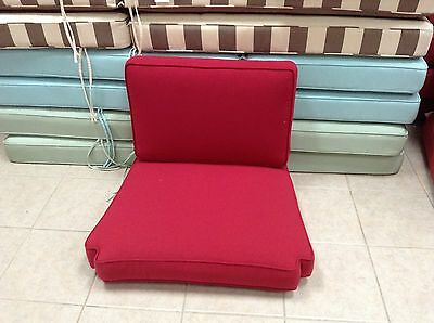 Pottery Barn Chatham arm chair occasional Replacement CUSHION cherry red Arm Chair Cushion Canvas
