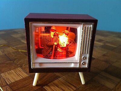 Fernseher Kahlert beleuchtet Clowns Puppenhaus  Puppenstube 1:12 dollhouse tv