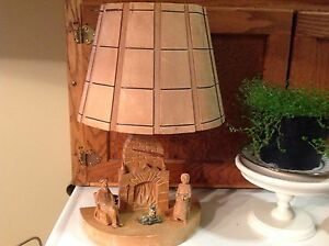 Vintage cottage hand carved light fixture