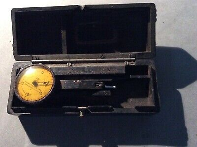 Vintage Federal Testmaster Dial Indicator Jeweled .001 With Case.