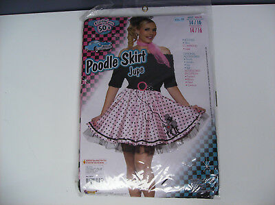 POODLE SKIRT 1950'S WOMEN HALLOWEEN COSTUME ONE SIZE