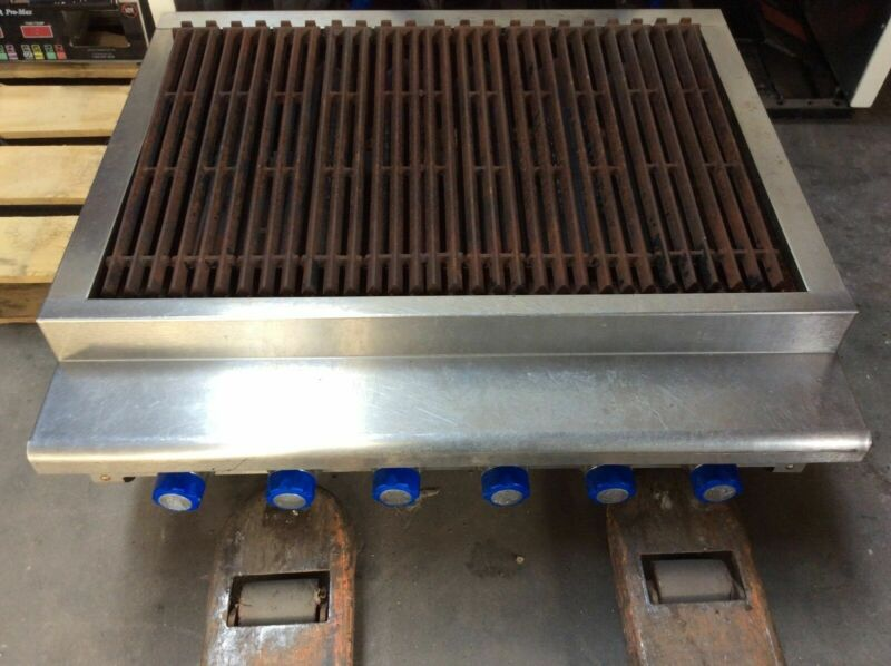 """36"""" Imperial Irb-36 Countertop Gas Charbroiler"""