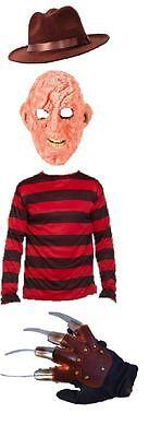 Freddy Krueger Latex Mask Glove Hat Jumper Burnt Man Halloween Fancy Dress](Freddy Krueger Dress)
