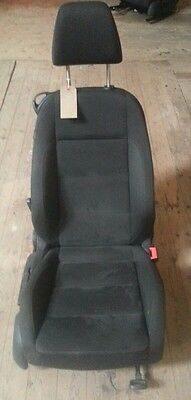 14794 2C2 08-12 MK6 VW GOLF GT TDI 3 DOOR OSF FRONT DRIVERS SEAT IN SUEDE CLOTH