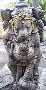 XL Concrete Ganesh Statue New Garden Ornament