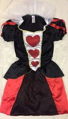 Queen Of Hearts Costume Sexy Tutu Mini Dress Alice In Wonderland Glitter M NEW - Alice In Wonderland Tutu