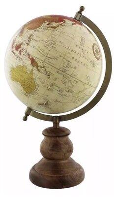 Vintage Globe Rotating Swivel Map of Earth Atlas Geography World Gift 36cm High