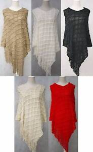 Wholesale Women's Knitted Winter Poncho Shawl free size Kenthurst The Hills District Preview