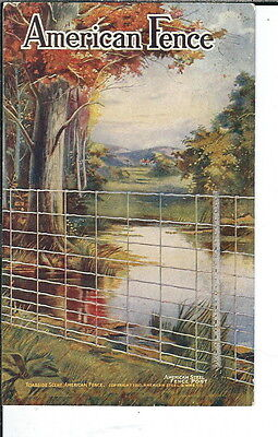 AY-272 - American Fence, 1907-1915 Golden Age Advertising Postcard Vintage