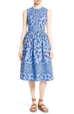 Kate Spade Tangier Floral Midi Dress Tea Length Size S Floral Spring Easter