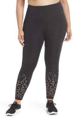 New! ZELLA Lasercut Leggings, Black; 2X
