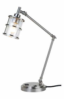 J Alexander Ribbed Glass Table / Desk Lamp
