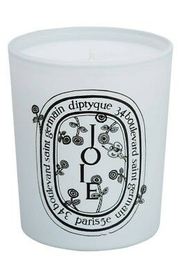 Rare New Diptyque Mina Perhonen Joie Candle Frosted Glass Embossed Label 6.5 oz