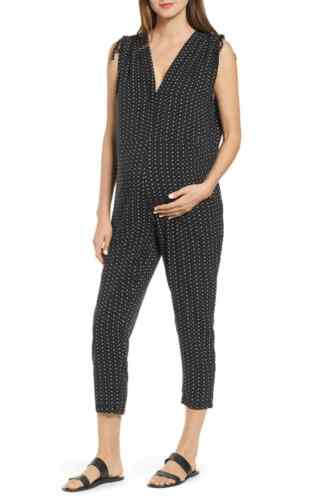 HATCH Twilight Jumpsuit Black/White Batik Floral - 0/S